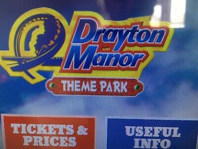 Drayton Manor Tickets 2 Adults And 2 Children