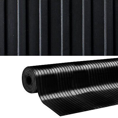 Rubber Sheeting Wide Ribbed Garage Flooring Matting Rolls 3 MM & 5 MM THICK