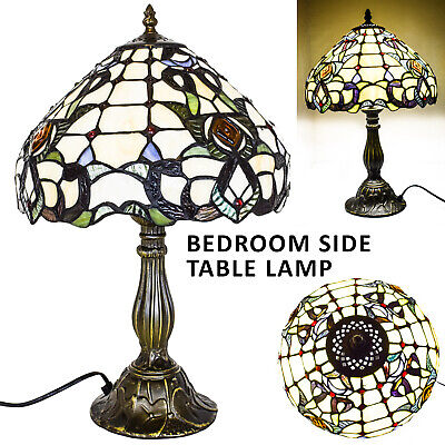 """TIFFANY Style Antique Hand Craft Table Lamp 12"""" Desk Bedside Home Decor Lamp UK"""