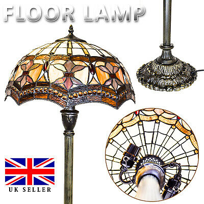 Brand Tiffany Style Stained Glass Handcrafted Antique Floor Lamp Bed/Living Room