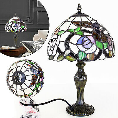 TIFFANY Style Antique Multi Colour Reading Table Home Decor Rose Lamps Lamp UK