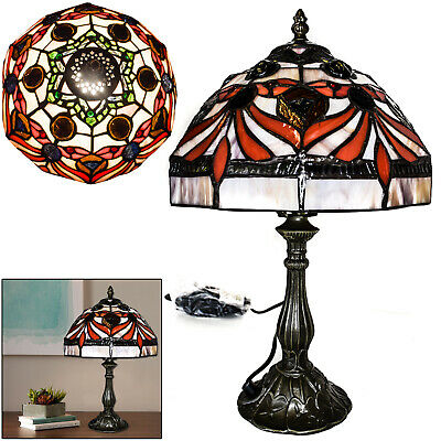 TIFFANY European-style Lamp Bed/Living Room Hand Crafted Base Antique Table Lamp