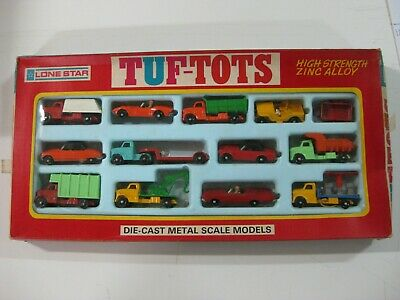 Vintage 70'S Lone Star Tuf-Tots Set 12 Vehiculos Ref:581 Made In England