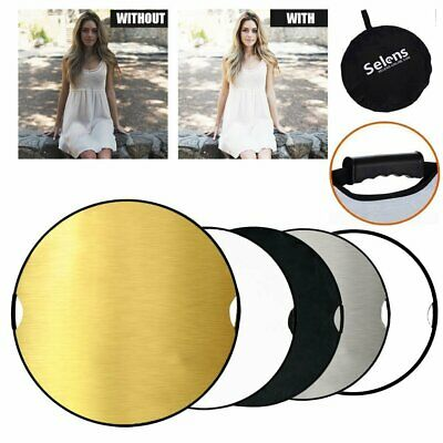 """Selens 43"""" 110cm 5in1 Photography Studio Multi Disc Collapsible Light Reflector"""