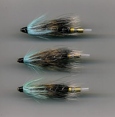 Code 559 Thunder /& Lightning 50 mm long all brass tube x 3 Tube Flies