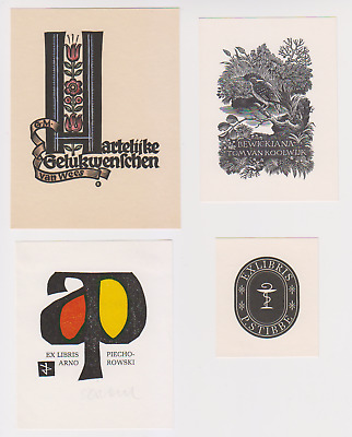 4 exlibris/pf/og from different artists