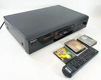Sony MDS-JE480 Mini Disc Player + Remote + 5 free Discs (1 New) FREE UK DELIVERY