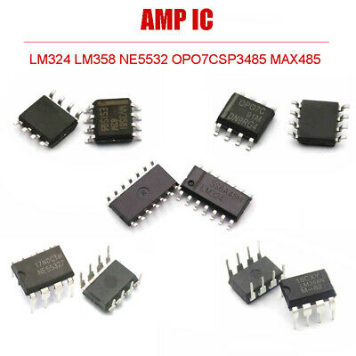 AMP IC LM358 LM324 NE5532 MAX485 SP3485 OP07C LM393 OPERATIONAL AMPLIFIERS  Chip