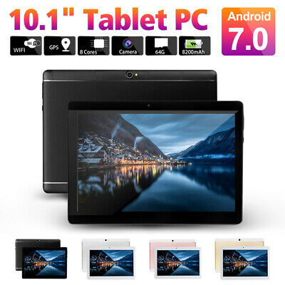 10.1'' Tablet PC Octa Core 4GB+64GB WIFI 2 SIM 4G Android 7.0 Phablet Pad Phone