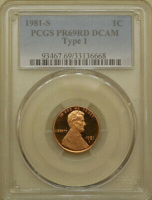 1981-S Type 1 PCGS PR69DCAM proof Lincoln cent deep cameo red DCAM