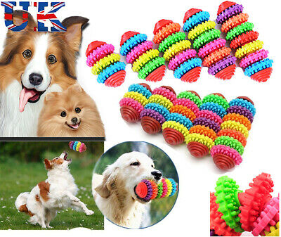 Durable Rubber Pet Dog Cat Dental Teething Healthy Teeth Gums Chew Play Toys