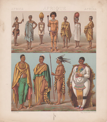 Chromolitho inhabitants Africa