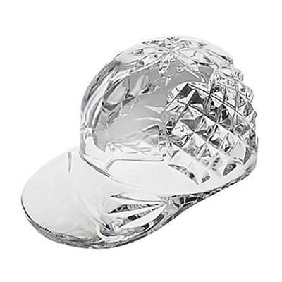 Waterford BASEBALL CAP -CRYSTAL  paperweight Sculpture - NEW - Boxed
