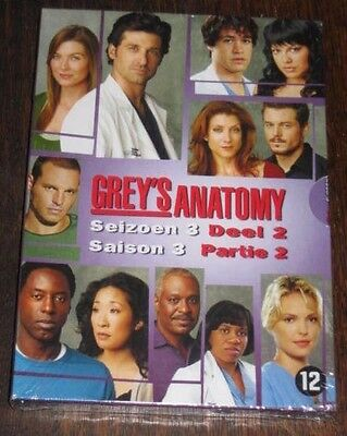 "New Coffret Box Set DVD 4 Discs ""GREY'S ANATOMY - saison 3"" [NEUF SOUS CELLO!!]"
