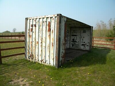 20 x 8 shipping container horse shelter