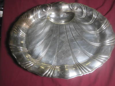 "Neptune  ""1847 Rogers Bros"" Serving Tray #9310 18 1/2"" x 14"" x 2"" Shell Pattern"