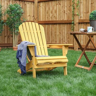 Wido Wooden Deck Chair Recline Garden Outdoor Furniture Sun Lounger Patio