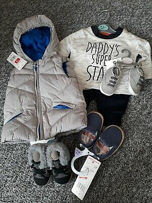 0-3 And 3-6 Months Boys Bundle brand new with tags. Shoes, outfit, gilet coat