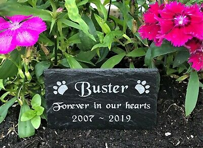 Personalised Engraved Slate Pet Memorial Grave Marker Plaque Dog Cat