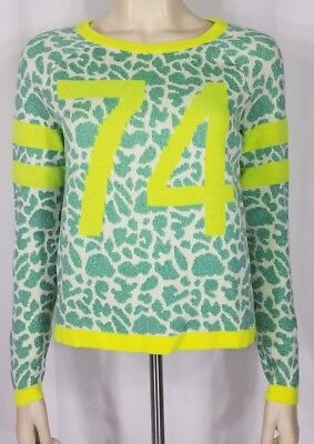 684b234f4d95 NWT Juicy Couture green neon yellow animal print 74 sweater ladies juniors  Small
