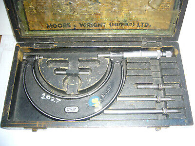 "'Moore & Wright' O/S Micrometer Combination Set 0-4""  + Case         (3817)"