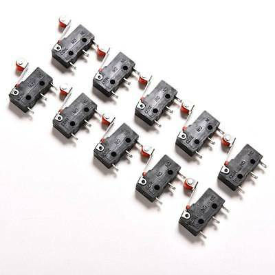 10pcs 5A KW12-3 Roller Lever Arm Terminal Microswitch Limit Switch Open/Close AC