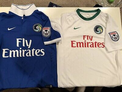 be713f11c New York Cosmos Nike NASL Youth L Soccer Jersey NY FREE S H Pele ...