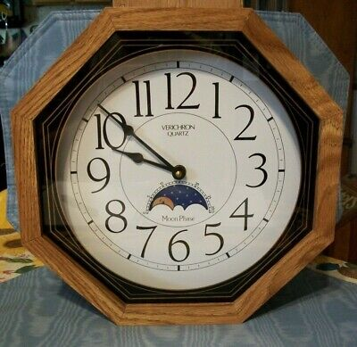 Vintage  Moon Phase  Wall / Mantle  Clock