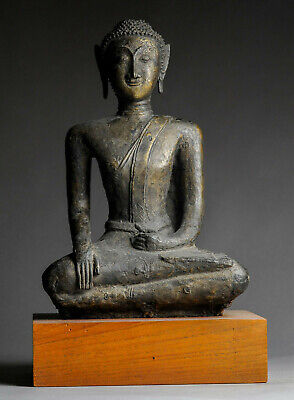 Antiker Buddha 16. Jhd.  Bronze 49 cm 13 kg Thailand Laos antique ORIGINAL