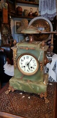 Antique French Clock In Algerian Marble