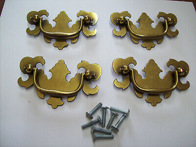 Vintage Brass Finish over steel chippendale drawer pulls
