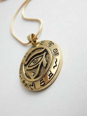 Ancient Egypt Eye of Ra Horus Pendant Jewelry Egyptian Protection Pendant Neckla