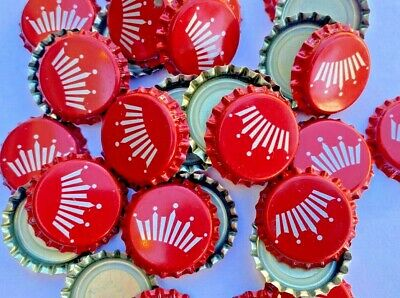 100 ((Crimped American Flag)) beer bottle Caps NO DENTS. Free Shipping.