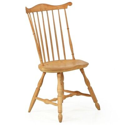 HANDMADE WINDSOR CHAIR | American Lancaster Style Fanback Antique Chair | Signed