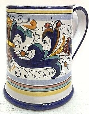 Deruta Pottery-Big Mug,16 Fluid Ounces - Ricco Deruta Made/Painted by hand ITALY