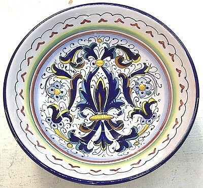 Deruta Pottery-8Inch Bowl Ricco Deruta-Made/painted by hand In Italy.