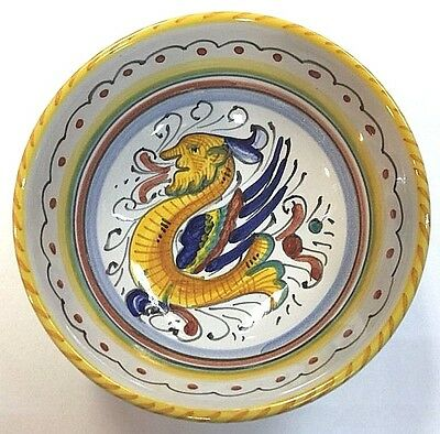 Deruta Pottery-bowl 4,3/4 inch raffaellesco-made in Italy made/painted by hand