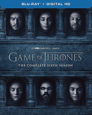 Game of Thrones: The Complete 6th Season (Blu-ray Disc, 2016, 4-Disc Set, Includ