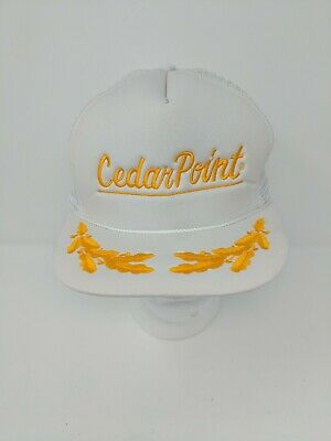 Cedar Point Amusement Theme Park Trucker Hat Snapback Cap  60s 70s 80s VTG Small