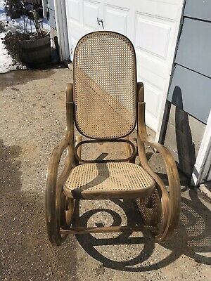 Vintage Thonet Style Bentwood Rocker Rocking Chair Bent Wood Wooden