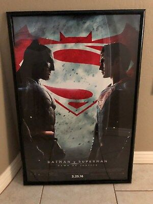 "2016 Batman v Superman Dawn of Justice 27""x40"" Official D/S Movie Theatre Poster"