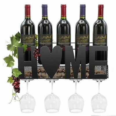Sorbus Wine Bottle Stemware Glass Rack Wall Mounted - Bordeaux Chateau Style...