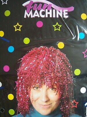 TINSEL WIGS 6 COLOURS HEN//STAG  PARTY RED NOSE  UNISEX ST PATRICKS  FANCY DRESS