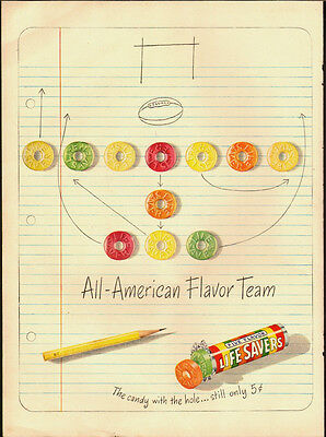 1948 Vintage ad for Life Savers~Candy~pencil/notebook paper (081513)