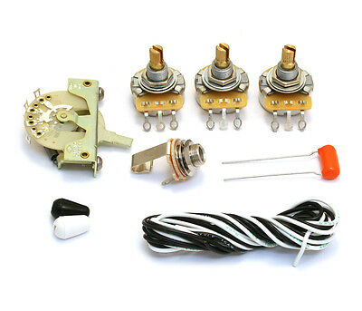 Standard 250k 5-way Wiring Kit for USA Fender Stratocaster/Strat® WKS-STD5