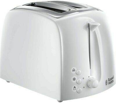 BRAND NEW Russell Hobbs High Textures 2 Slice Toaster in White box mint cond