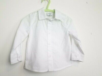 Baby Boys 18 Month Crown & Ivy Boutique White Collared Dress Shirt! Euc!