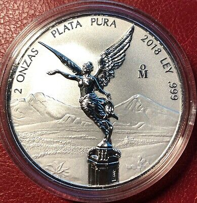 "2018 2oz Silver Libertad Reverse Proof ""Treasure Coin Of Mexico™"""
