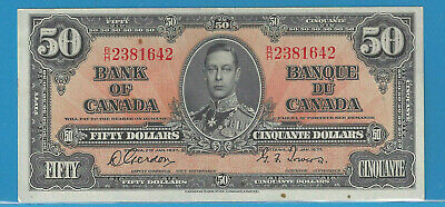 1937  Bank Of Canada $50  BC-26b  Gordon /Towers B/H  Almost UNC