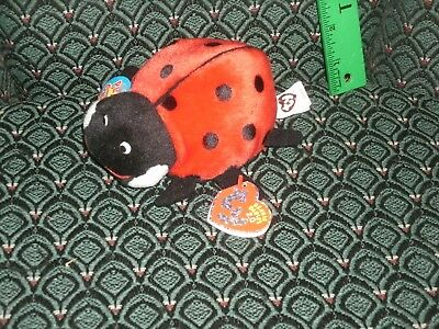 "Ty Maiden * The 2.0 Beanie Ladybug - 6"" Long - Unused Code- 2008 -Mwmt"
